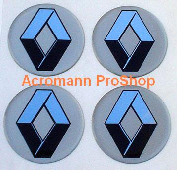 Renault 2.2inch Wheel Cap Decal x 4 pcs
